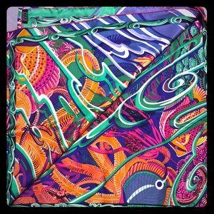 Hermés shawl scarf 100% silk multi vibrant bright